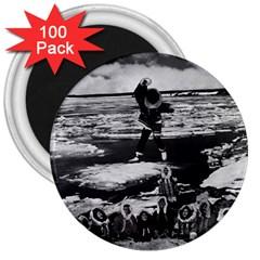 Vintage Alaska Eskimo Blanket Tossing 1970 100 Pack Large Magnet (round)