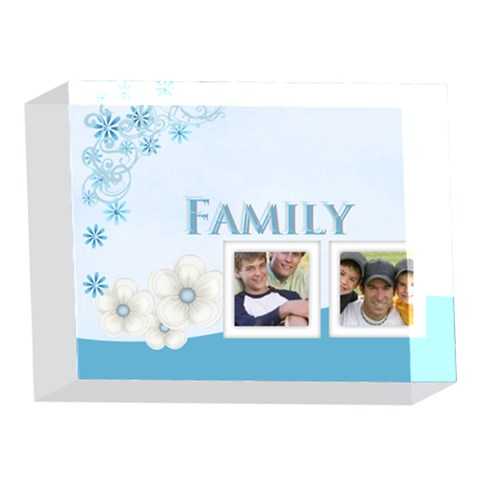 Family By Joely   5 x 7  Acrylic Photo Block   Ifx72m1hsmwb   Www Artscow Com Front