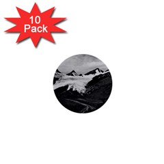 Vintage Usa Alaska Worthington Glacier In Summer 1970 10 Pack Mini Button (round) by Vintagephotos