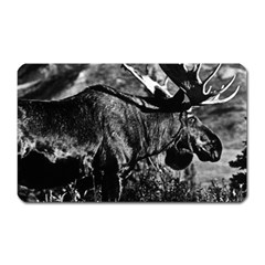 Vintage Usa Alaska Bull Moose 1970 Large Sticker Magnet (rectangle) by Vintagephotos