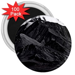 Vintage Usa  Alaska Mt Mckinley National Park 1970 100 Pack Large Magnet (round) by Vintagephotos