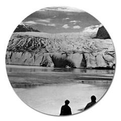 Vintage USA Alaska Mendenhall glacier Juneau 1970 Extra Large Sticker Magnet (Round) by Vintagephotos