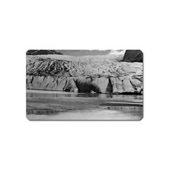 Vintage Usa Alaska Mendenhall Glacier Juneau 1970 Name Card Sticker Magnet by Vintagephotos