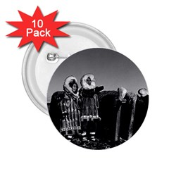 Vintage Usa Fur Clad Eskimos Of Arctic Alaska Bu Sod Igloo 10 Pack Regular Button (round) by Vintagephotos
