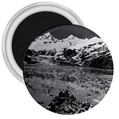Vintage Usa Alaska Glacier Bay National Monument 1970 Large Magnet (round)