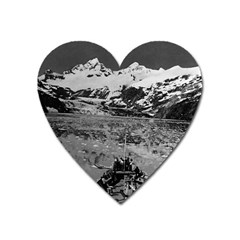 Vintage Usa Alaska Glacier Bay National Monument 1970 Large Sticker Magnet (heart) by Vintagephotos