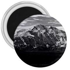 Vintage Usa Alaska Beautiful Mt Mckinley 1970 Large Magnet (round)