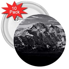 Vintage USA Alaska Beautiful Mt Mckinley 1970 10 Pack Large Button (Round)