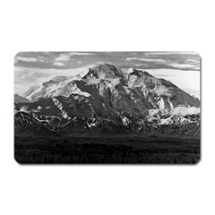 Vintage Usa Alaska Beautiful Mt Mckinley 1970 Large Sticker Magnet (rectangle)