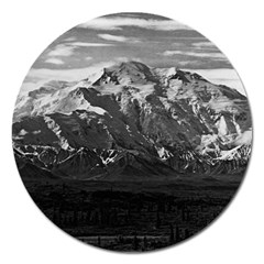 Vintage Usa Alaska Beautiful Mt Mckinley 1970 Extra Large Sticker Magnet (round)