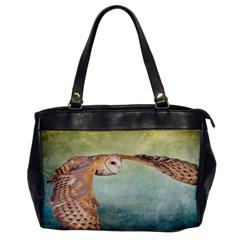 Barn Owl Single Sided Oversized Handbag by heathergreen