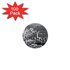 Vintage Principality Of Monaco  The Port Of Monte Carlo 100 Pack Mini Button (round) by Vintagephotos