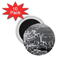 Vintage Principality Of Monaco  The Port Of Monte Carlo 10 Pack Small Magnet (round)