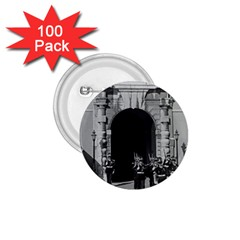 Vintage Principality Of Monaco Palace Gate And Guard 100 Pack Small Button (round) by Vintagephotos