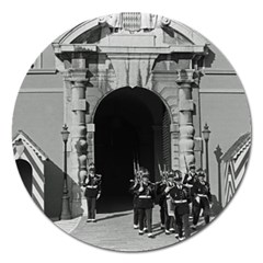 Vintage Principality Of Monaco Palace Gate And Guard Extra Large Sticker Magnet (round)