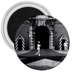 Vintage Principality Of Monaco Princely Palace 1970 Large Magnet (round)