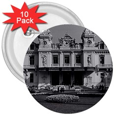 Vintage Principality Of Monaco Monte Carlo Casino 10 Pack Large Button (round) by Vintagephotos