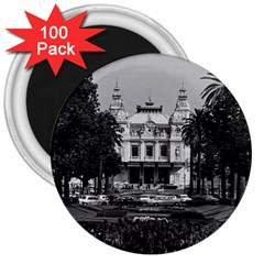 Vintage Principality Of Monaco Monte Carlo Casino 100 Pack Large Magnet (round) by Vintagephotos