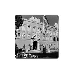 Vintage Principality Of Monaco Princely Palace 1970 Large Sticker Magnet (square) by Vintagephotos