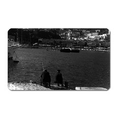 Vintage Principality Of Monaco The Port Of Monaco 1970 Large Sticker Magnet (rectangle) by Vintagephotos