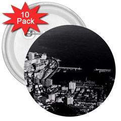 Vintage Principality Of Monaco Overview 1970 10 Pack Large Button (round) by Vintagephotos