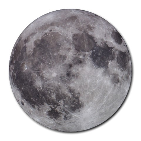 Full Moon Mousepad By Bg Boyd Photography (bgphoto)   Round Mousepad   Xbb1dpx7ejfc   Www Artscow Com Front