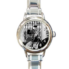 Vintage Uk England  Queen Elizabeth 2 Buckingham Palace Classic Elegant Ladies Watch (round) by Vintagephotos