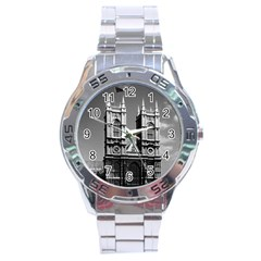 Vintage Uk England London Westminster Abbey 1970 Stainless Steel Analogue Watch (round)