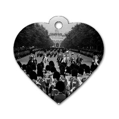 Vintage Uk England The Guards Returning Along The Mall Twin Sided Dog Tag (heart) by Vintagephotos