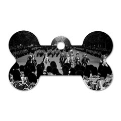 Vintage Uk England The Guards Returning Along The Mall Twin Sided Dog Tag (bone) by Vintagephotos
