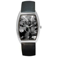Vintage Uk  England Railway Inside Coach 1970 Black Leather Watch (tonneau) by Vintagephotos
