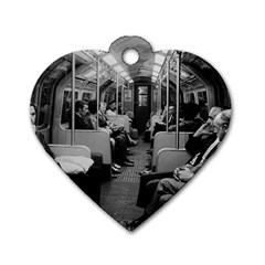 Vintage Uk  England Railway Inside Coach 1970 Twin Sided Dog Tag (heart) by Vintagephotos