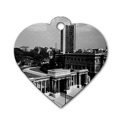 Vintage Uk England London Hyde Park Corner Hilton 1970 Single Sided Dog Tag (heart) by Vintagephotos