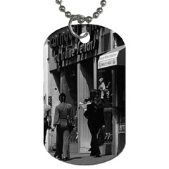 Vintage Uk England London Shops Carnaby Street 1970 Twin Sided Dog Tag by Vintagephotos