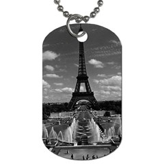 Vintage France Paris Fontain Chaillot Tour Eiffel 1970 Twin-sided Dog Tag by Vintagephotos