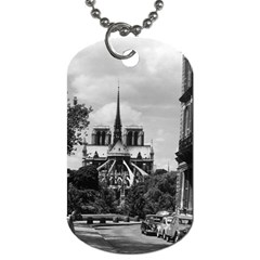 Vintage France Paris Notre Dame Saint Louis Island 1970 Twin Sided Dog Tag by Vintagephotos