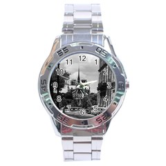 Vintage France Paris Notre Dame Saint Louis Island 1970 Stainless Steel Analogue Watch (round) by Vintagephotos