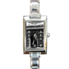 Vintage France Paris Triumphal Arch  Place De L etoile Classic Elegant Ladies Watch (rectangle) by Vintagephotos