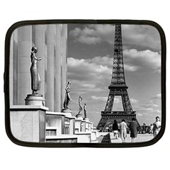 Vintage France Paris Eiffel Tour Chaillot Palace 1970 15  Netbook Case by Vintagephotos