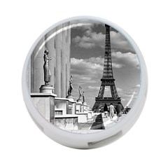 Vintage France Paris Eiffel Tour Chaillot Palace 1970 Single Sided 4 Port Usb Hub (round) by Vintagephotos