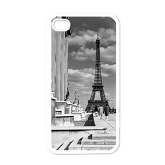 Vintage France Paris Eiffel Tour Chaillot Palace 1970 White Apple Iphone 4 Case