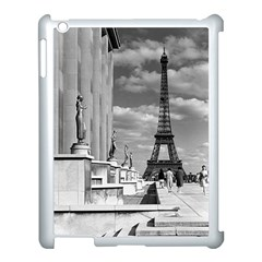 Vintage France Paris Eiffel Tour Chaillot Palace 1970 Apple Ipad 3/4 Case (white) by Vintagephotos