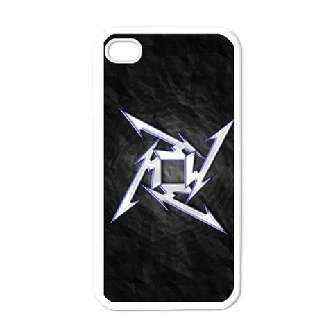 Metallica Ninja Star Iphone 4 White By Clinton Halliday   Apple Iphone 4 Case (white)   Yzyi1633yn3d   Www Artscow Com Front