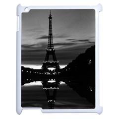 Vintage France Paris Eiffel tower reflection 1970 Apple iPad 2 Case (White) by Vintagephotos