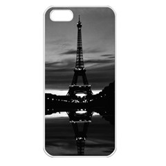Vintage France Paris Eiffel Tower Reflection 1970 Apple Iphone 5 Seamless Case (white)