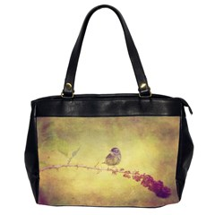 Palm Warbler Twin Sided Oversized Handbag by heathergreen