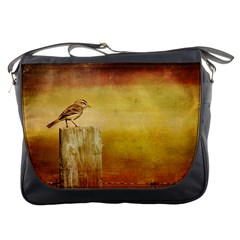 Bird On A Fence Messenger Bag by heathergreen