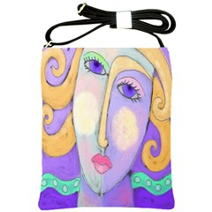 Abstract Woman Shoulder Bag Cross Shoulder Sling Bag by paintedpurses