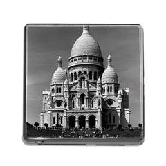 Vintage France Paris The Sacre Coeur Basilica 1970 Card Reader With Storage (square) by Vintagephotos