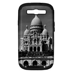 Vintage France Paris The Sacre Coeur Basilica 1970 Samsung Galaxy S III Hardshell Case (PC+Silicone) by Vintagephotos